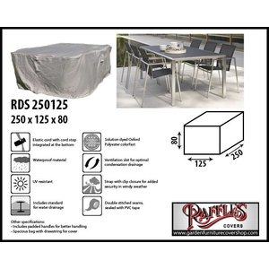 Raffles Covers Cover for outdoor dining set, 250 x 125 H: 80 cm