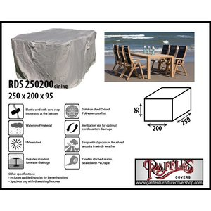 Raffles Covers Rectangular patio furniture cover, 250 x 200 H: 95 cm