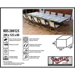 Raffles Covers Protection cover for patio set, 280 x 125 H: 80 cm