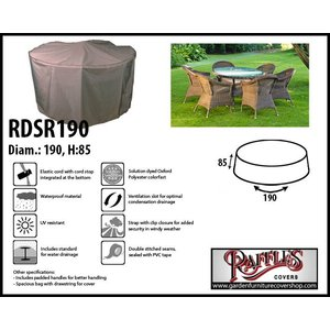 Raffles Covers Round cover for patio set, Ø: 190 cm & H: 85 cm