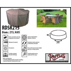 Raffles Covers Circular furniture cover, Ø: 215 cm & H: 85 cm
