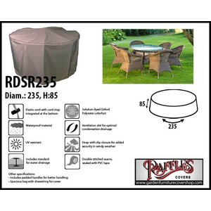 Raffles Covers Round cover for garden furniture, Ø: 235 cm & H: 85 cm