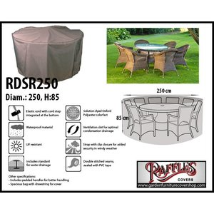 Raffles Covers Cover for circular patio set, Ø: 250cm & H: 85 cm