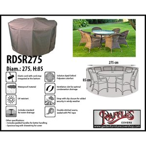 Raffles Covers Circular patio set cover, Ø: 275 cm & H: 85 cm