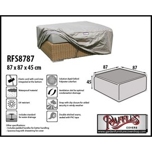 Raffles Covers Protection cover for footstool, 87 x 87 H: 45 cm