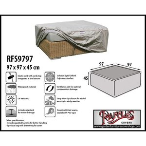 Raffles Covers Cover for ottoman, 97 x 97 H: 45 cm