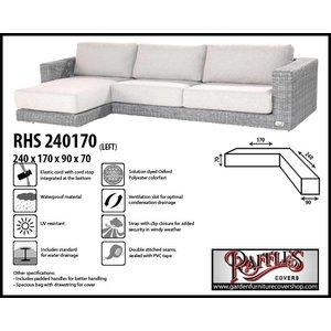 Raffles Covers Asymmetric corner sofa cover, 240 x 170 x 90, H: 70 cm