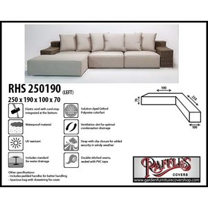 Raffles Covers Weather cover for corner sofa, 250 x 190 x 100, H: 70 cm