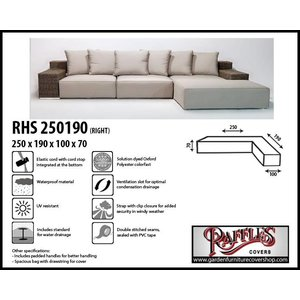 Raffles Covers Protection cover for L-shaped sofa, 250 x 190 x 100, H: 70 cm