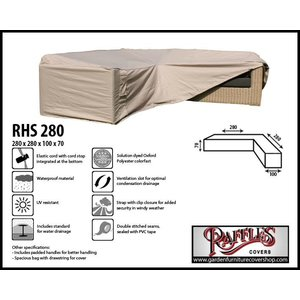 Raffles Covers Garden cover for corner sofa, 280 x 280 x 100, H: 70 cm