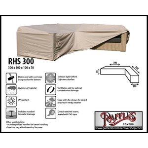 Raffles Covers Outdoor corner sofa cover, 300 x 300 x 100, H: 70 cm