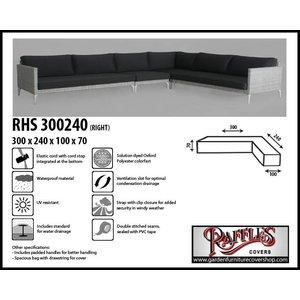 Raffles Covers L-shape sofa cover, 300 x 240 x 100, H: 70 cm
