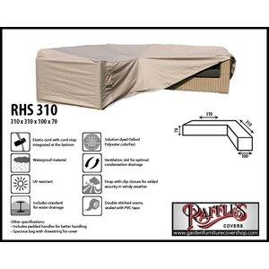 Raffles Covers Large cover corner sofa, 310 x 310 x 100, H: 70 cm