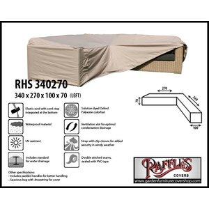 Raffles Covers Cover for rattan corner sofa, 340 x 270 x 100, H: 70 cm