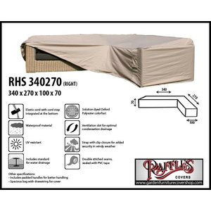 Raffles Covers L-shaped outdoor sofa cover, 340 x 270 x 100, H: 70 cm