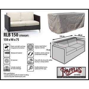 Raffles Covers Cover for rattan lounge sofa, 150 x 90, H: 75 cm