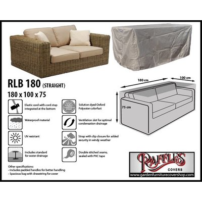 Raffles Covers Protection cover for rattan sofa 180 x 100 H: 75 cm