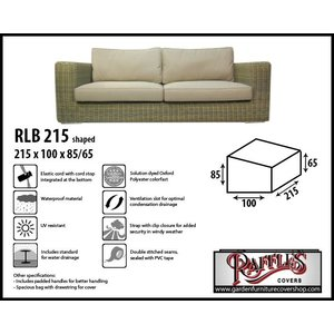 Raffles Covers Lounge sofa cover, 215 x 100 H: 85 / 65 cm