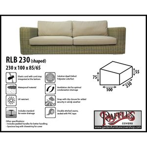 Raffles Covers Outdoor cover for sofa, 230 x 100 H: 85 / 65 cm