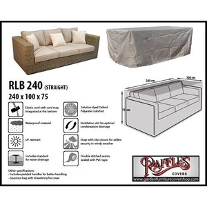 Raffles Covers Weather cover for lounge sofa, 240 x 100 H: 75 cm