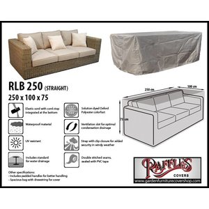 Raffles Covers Outdoor lounge sofa cover, 250 x 100 H: 75 cm