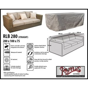 Raffles Covers Cover for lounge sofa, 280 x 100 H: 75 cm