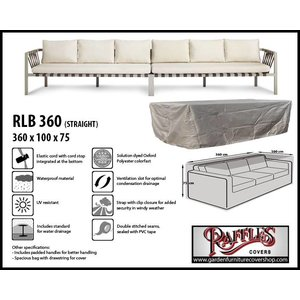 Raffles Covers Cover for rattan lounge sofa xxl, 360 x 100 H: 75 cm