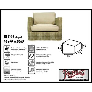 Raffles Covers Rattan lounge chair cover, 95 x 95 H: 85 /65 cm