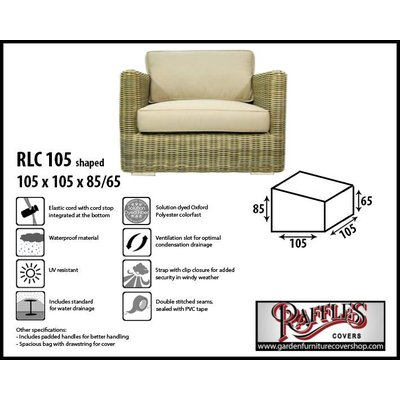 Raffles Covers Weather cover for lounge chair 105 x 105 H: 85 /65 cm
