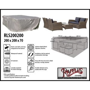 Raffles Covers Lounge set protection cover, 200 x 200 H: 70 cm