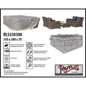 Raffles Covers XL cover for garden furniture lounge set, 350 x 300 H: 70 cm