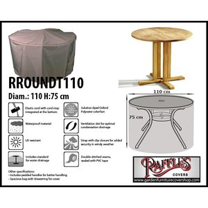 Raffles Covers Cover for round furniture set, D: 110cm & H: 75 cm