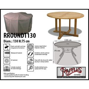Raffles Covers Garden dining set cover round, D: 130cm & H: 75 cm