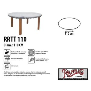 Raffles Covers Round table top cover D: 110 cm