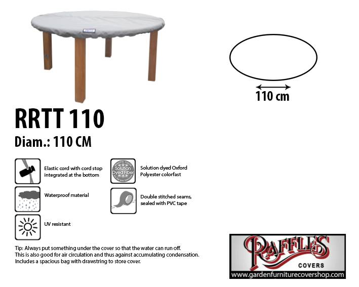 Raffles Covers Round table top cover 110cm  sc 1 st  Garden Furniture Cover Shop & Round table top cover 110 cm - Garden Furniture Cover Shop