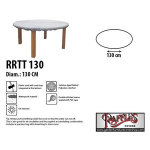 Raffles Covers Weather cover for table top D: 130 cm