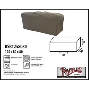 Raffles Covers Lounge set cushions storage bag, 125 x 80 H: 80 cm
