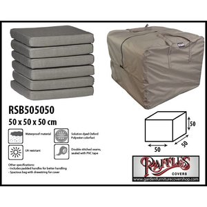 Raffles Covers Lounge cushions storage bag, 50 x 50 H: 50 cm