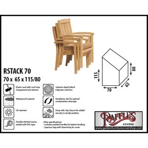 Raffles Covers Cover for stacking chairs, 70 x 65 H: 80/115 cm