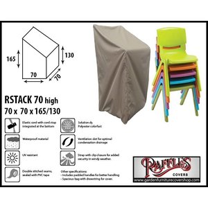 Raffles Covers Cover for outdoor stackable chairs, 70 x 70 H: 165/130 cm