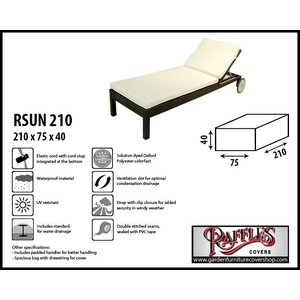 Raffles Covers Cover for a beach bed, 210 x 75 H: 40 cm
