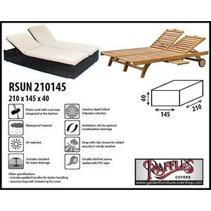 Raffles Covers Cover for a double sun lounger, 210 x 145 H: 40 cm