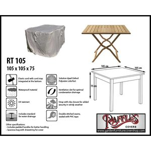 Raffles Covers Garden cover for table, 105 x 105 H: 75 cm