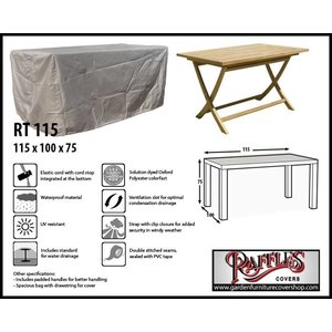 Raffles Covers Cover for garden table, 115 x 100 H: 75 cm