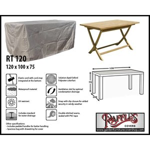 Raffles Covers Protection case for rectangular garden table, 120 x 100 H: 75 cm