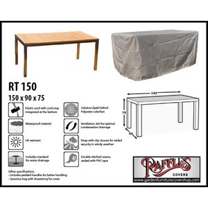 Raffles Covers Weather cover for garden table, 150 x 90 H: 75 cm
