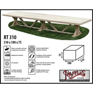 Raffles Covers Protection cover for garden table, 310 x 100 H: 75 cm