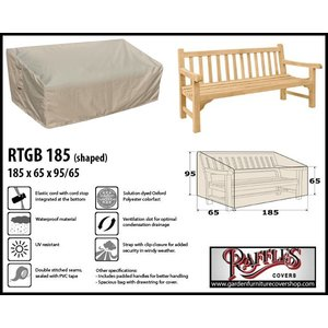 Raffles Covers Cover for garden bench, 185 x 65 H:95/65cm