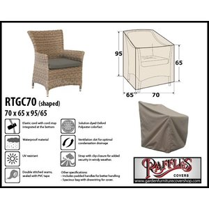 Raffles Covers Weather cover for garden chair, 70 x 65 H:95/65cm
