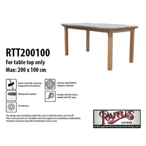 Raffles Covers Table top cover for outdoor table, 200 x 100 cm